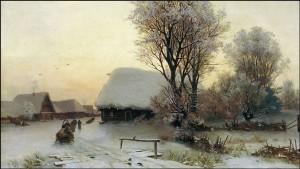 Снежная морозная зима