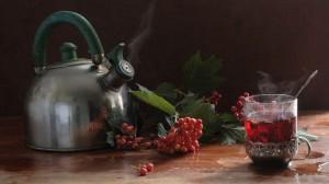 Чай из хвои и калины